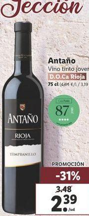 Oferta de Vino tinto Antaño por 2,39€