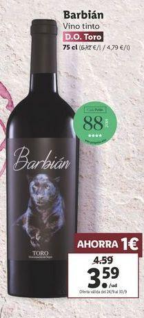 Oferta de Vino tinto Barbián  por 3,59€