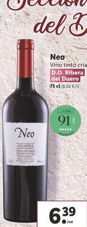 Oferta de Vino tinto crianza Neo  por 6,39€