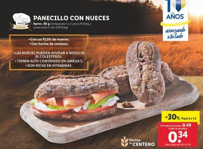Oferta de Panecillos con nueces por 1€