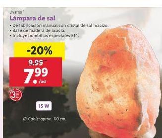 Oferta de Lámpara de sal Livarno por 7,99€