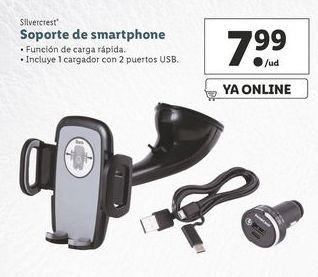 Oferta de Soporte de smartphone para coche SilverCrest por 7,99€