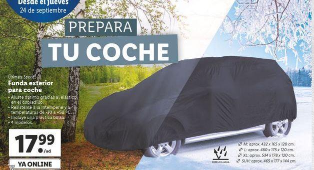 Oferta de Fundas exterior para coche ultimate speed por 17,99€