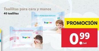 Oferta de Toallitas para cara y manos  Lupilu por 0,99€