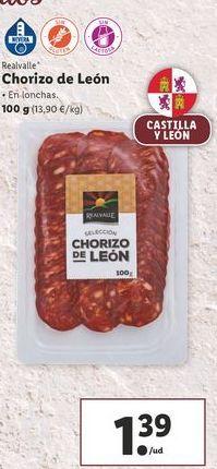 Oferta de Chorizo de León Realvalle por 1,39€