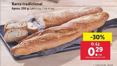 Oferta de Barra tradicional  por 0,29€