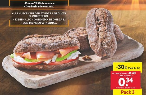 Oferta de Pan de nueces  por 1€