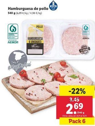 Oferta de Hamburguesas de pollo por 2,69€