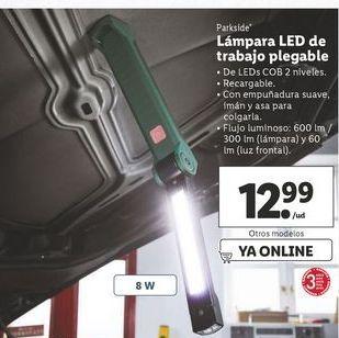 Oferta de Lámpara led de trabajo plegable Parkside por 12,99€