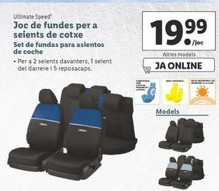 Oferta de Set de fundas para asientos de coche  ultimate speed por 19,99€
