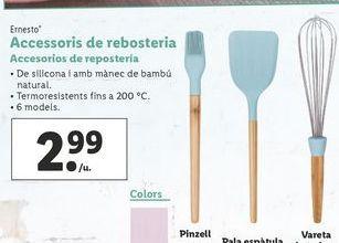 Oferta de Accesorios de repostería  ernesto por 2,99€