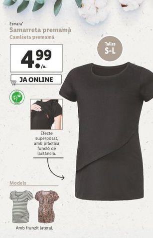 Oferta de Camiseta premamá esmara por 4,99€