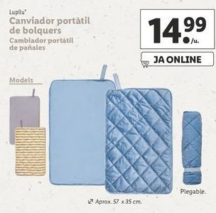 Oferta de Cambiador portatil de pañles Lupilu por 14,99€