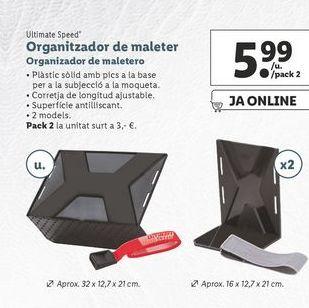Oferta de Organizador de maletero ultimate speed por 5,99€