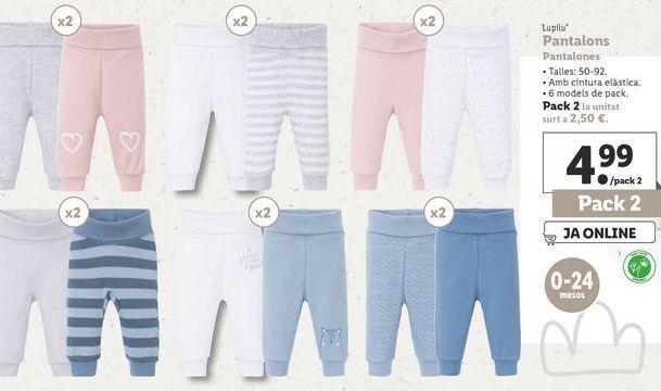 Oferta de Pantalones Lupilu por 4,99€