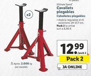 Oferta de Caballete plegable ultimate speed por 12,99€