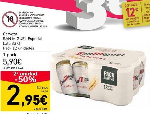 Oferta de Cerveza SAN MIGUEL Especial  por 5,9€