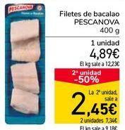 Oferta de Filetes de bacalao PESCANOVA por 4,89€