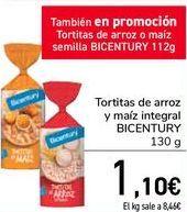 Oferta de Tortitas de arroz y mañiz integral BICENTURY  por 1,1€