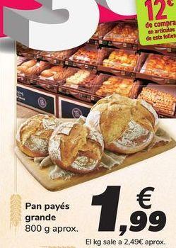 Oferta de Pan payés grande por 1,99€