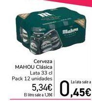 Oferta de Cerveza MAHOU Clásica  por 5,34€