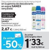 Oferta de Desodorante Sanex por 2,67€