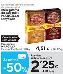 Oferta de Café molido Marcilla por 4,51€