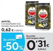 Oferta de Cerveza con limón Amstel por 0,62€