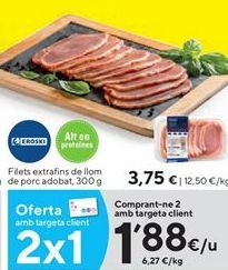 Oferta de Lomo de cerdo eroski por 3,75€