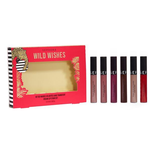 Oferta de Kit de cream lip stain wild wishes - 6 barras de labios fijación extrema por 29,99€