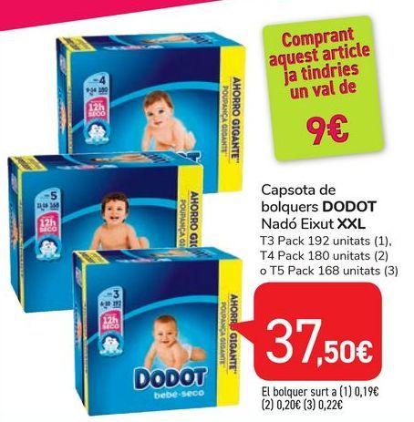 Oferta de Capsota de bloquers DODOT Nadó Eixut XXL por 37,5€