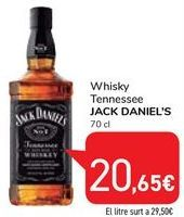Oferta de Whisky Tennessee Jack Daniel's por 20,65€