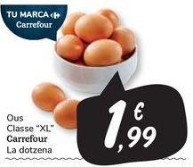 """Oferta de Ous Classe """"XL"""" Carrefour por 1,99€"""