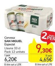 Oferta de Cervesa San Miguel Especial  por 6,2€