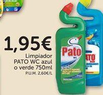 Oferta de Limpiador wc azul o verde  Pato WC por 1,95€