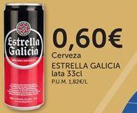 Oferta de Cerveza Estrella Galicia por 0,6€