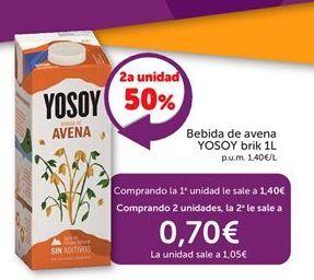 Oferta de Bebida de avena YoSoy por 1,4€