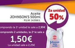 Oferta de Aceite para bebé Johnson's por 2,99€