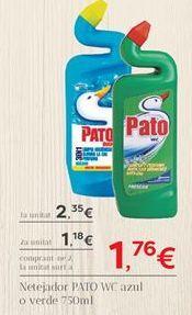 Oferta de Limpiador wc Pato WC por 2,35€