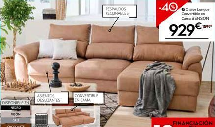 Oferta de Chaise longue con cama por 929€
