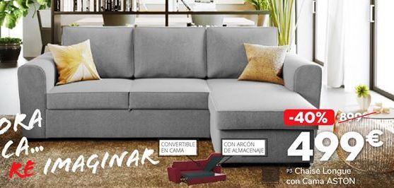 Oferta de Chaise longue con cama por 499€