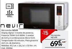 Oferta de Microondas Nevir por 69,99€