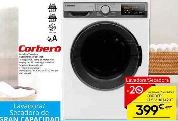 Oferta de Lavadoras Corberó por 399€