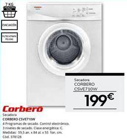 Oferta de Secadoras Corberó por 199€