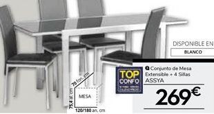 Oferta de Conjunto mesa y sillas por 269€