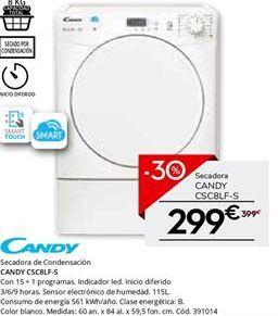 Oferta de Secadoras Candy por 299€