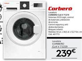 Oferta de Lavadora carga frontal Corberó por 239€
