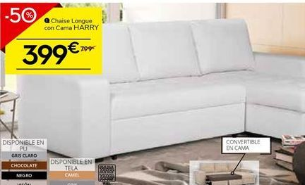 Oferta de Chaise longue con cama por 399€