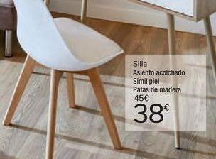 Oferta de Silla asiento acolchado  por 38€