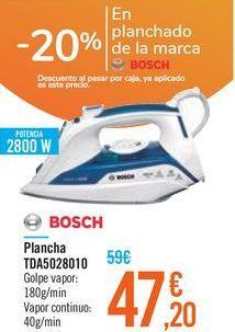 Oferta de Plancha TDA5028010 BOSCH por 47,2€